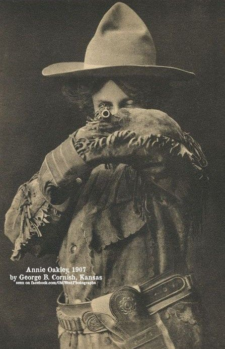 Annie Oakley via Old West Photographs on Facebook