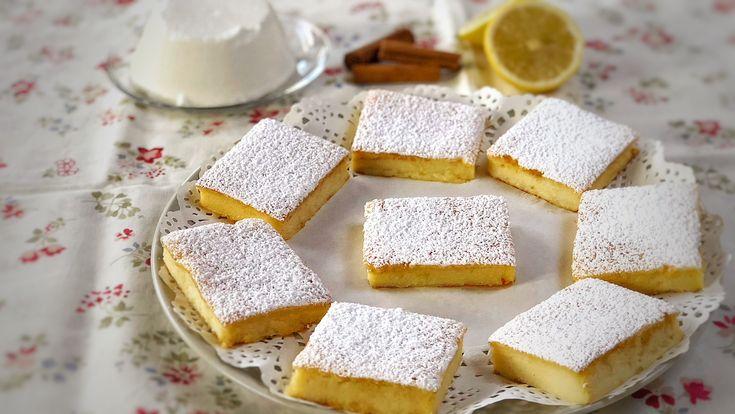 Quadrotti ricotta e limone, una ricetta facilissima per un dolce morbidissimo e profumato. Tutta la cremosità della ricotta aromatizzata al limone
