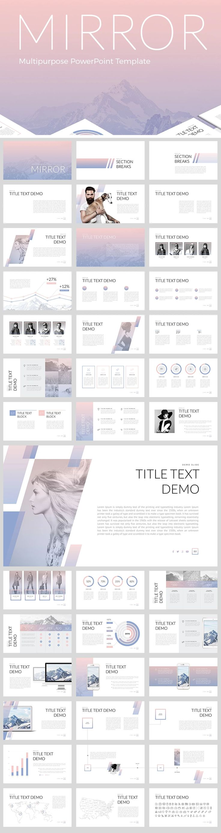 121 best business powerpoint templates images on pinterest mirror powerpoint template accmission Images
