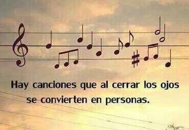 Y personas que se vuelven canciones