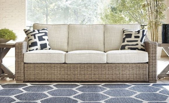 Roslyn Outdoor Wicker Sofa Furniture Wicker Sofa Outdoor Porch