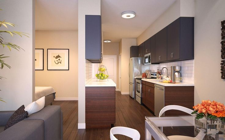 Contemporary kitchen with breakfast nook bellmont livello for Galley kitchen with breakfast nook