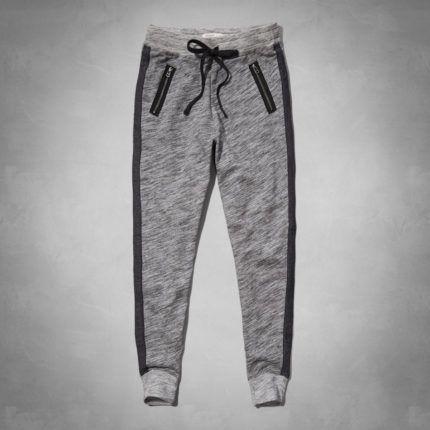 calças de moletom femininas com bolsos em ziper