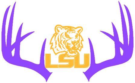 Lsu Decals Antlers Car Decals Hunting Decals Hunting Foot