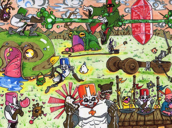 239 best images about castle crashers on pinterest - Castle crashers anime ...