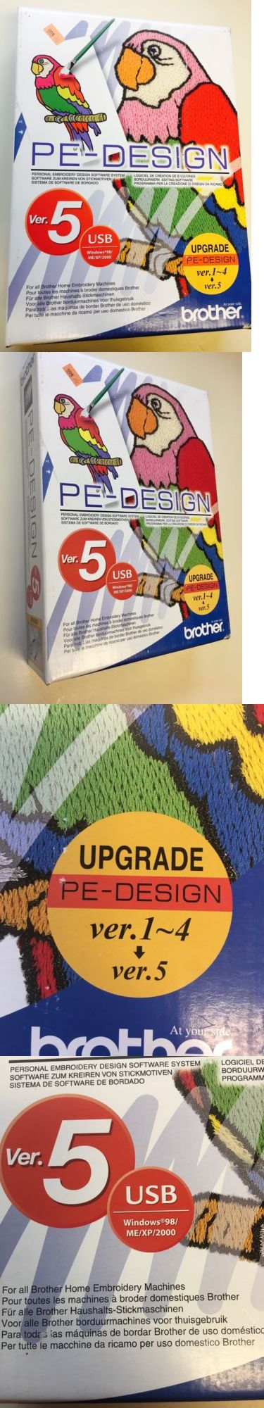 Digitizing Software 71197: Brother Pe Design Ver 5 Embroidery Design Software, Card Reader, Rewritable Card -> BUY IT NOW ONLY: $274.15 on eBay!