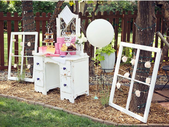Read more Vintage Backyard Bridal Shower,Pink Centerpieces http://www.itakeyou.co.uk/wedding/vintage-pink-backyard-bridal-shower-connie-dai-photography Photo : Connie Dai Photography bridal shower theme,bridal shower games,vintage bridal shower ideas,vintage bridal shower food,vintage bridal shower favors,vintage bridal shower decorations,vintage bridal shower dress