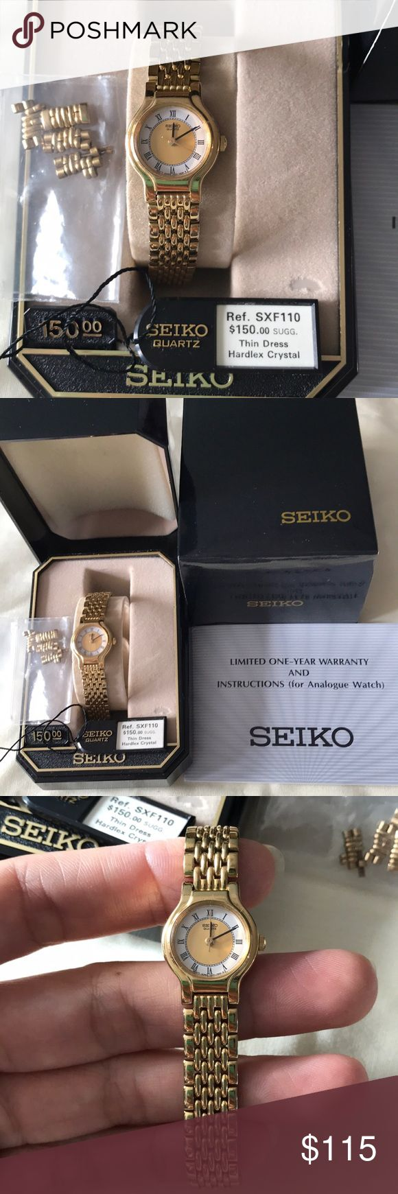Authentic SEIKO gold plated for lady Very great condition pre-owed Chang New Battery run fine Come with the tag and the original box and extra link good for gift Christmas or something special (: Offer Welcome or bundle save 10% Seiko Accessories Watches