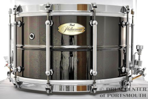 Pearl Philharmonic Beaded Brass Snare Drum 8x14