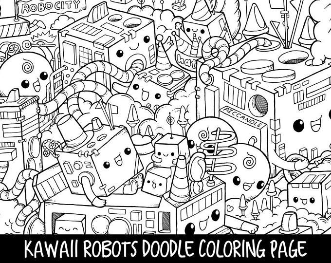 Popsicle Doodle Coloring Page Printable Cute Kawaii Coloring Etsy In 2020 Cute Doodles Doodle For Beginners Doodle Art For Beginners