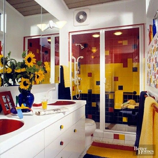 Doesn't this bath look like it would go perfectly with the D. J./Stephanie bedroom fromFull House?