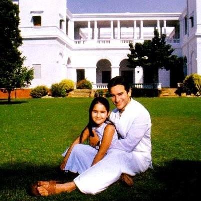 Saif with his daugher Sara.