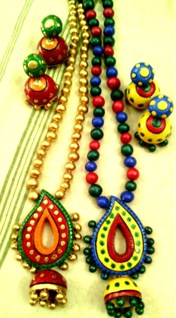 7 best Terracotta Necklace appealing colourful jewelry images on ...