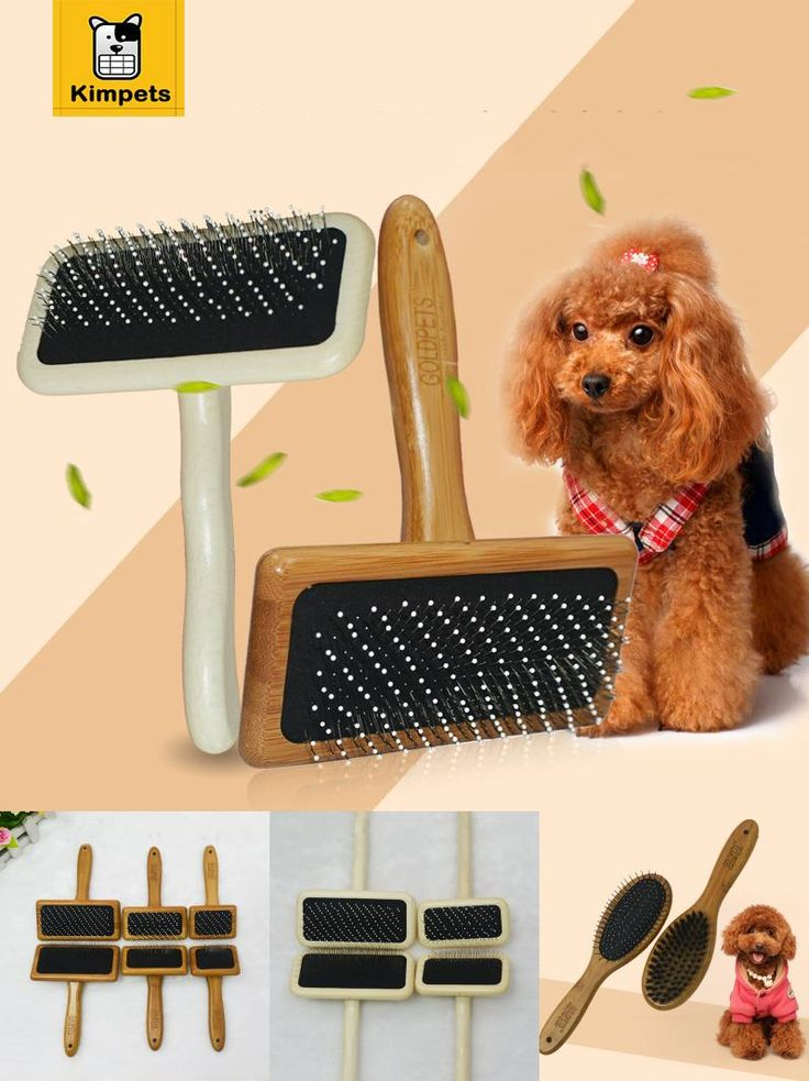 [Visit to Buy] Wood Pet Dog Combs Grooming Practical Needle Comb Cat Tool Brush Pet Supplies Product Dog Puppy Wooden Brush Bristle Pins Combs #Advertisement