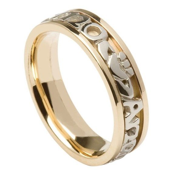 lovers wedding collection closed knot design soulmate on panel yellow mens triscele white trinity centre ogham with rings ring