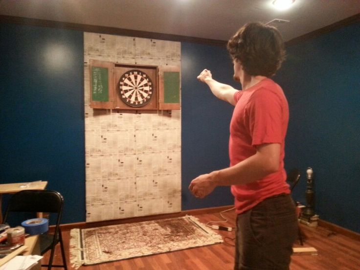 We Made A Back Board For Our Dart Board Out Of Plywood