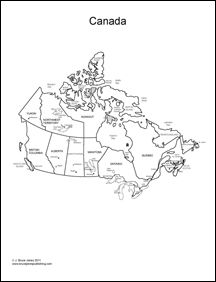 Canada Map Coloring Page