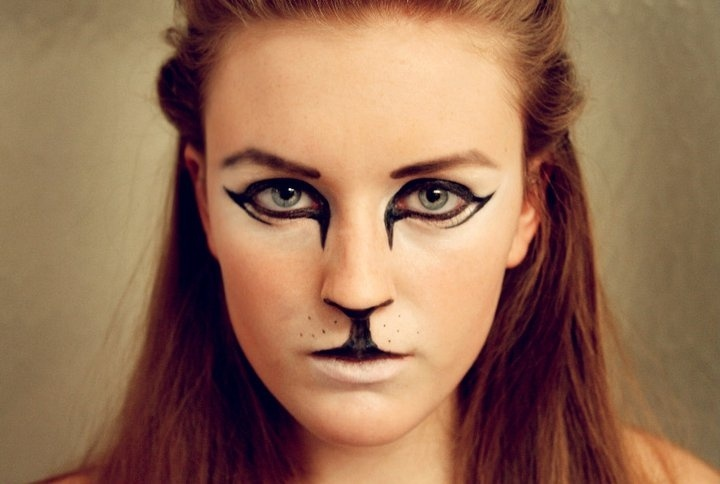 Cool Cat face @Devon Higgins | Special Effects Makeup | Pinterest