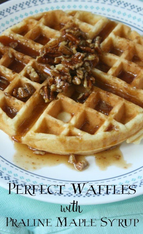 Perfect Waffles with Praline Maple Syrup