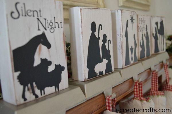 DIY Nativity Stocking Holders