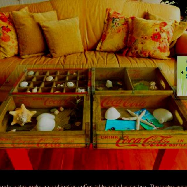 Coke crate coffee table