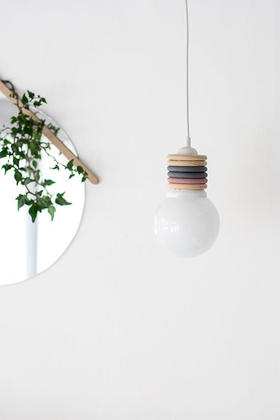Turn Curtain Rings Into A Modern Pendant Lamp on Passion Shake