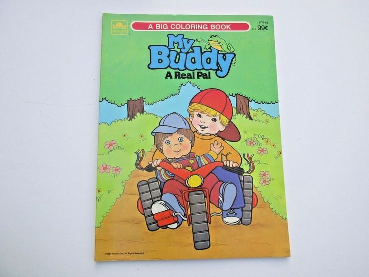 vintage my buddy coloring book paint with water unused 1980s