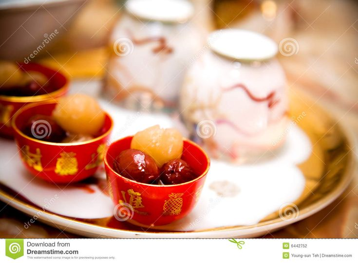 Traditional Chinese Wedding Tea Ceremony Cutlery Stock Photography ...