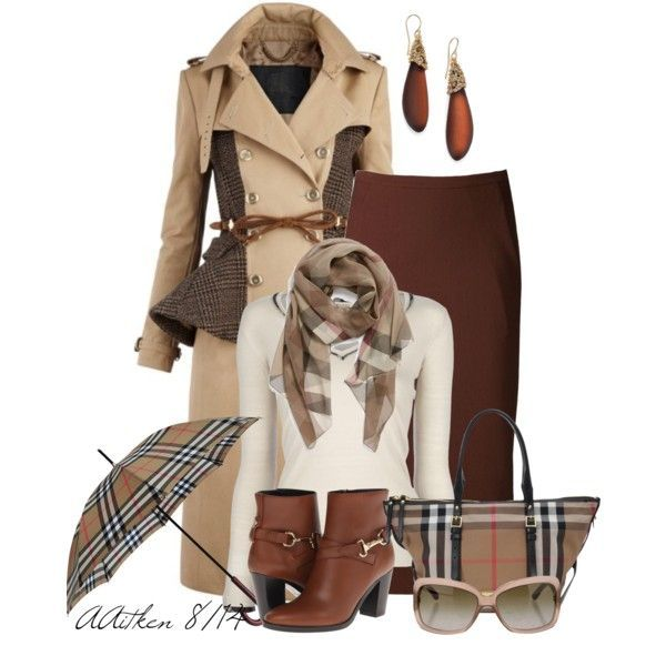 """""""Checked Scarves"""" by andreaaitken on Polyvore"""