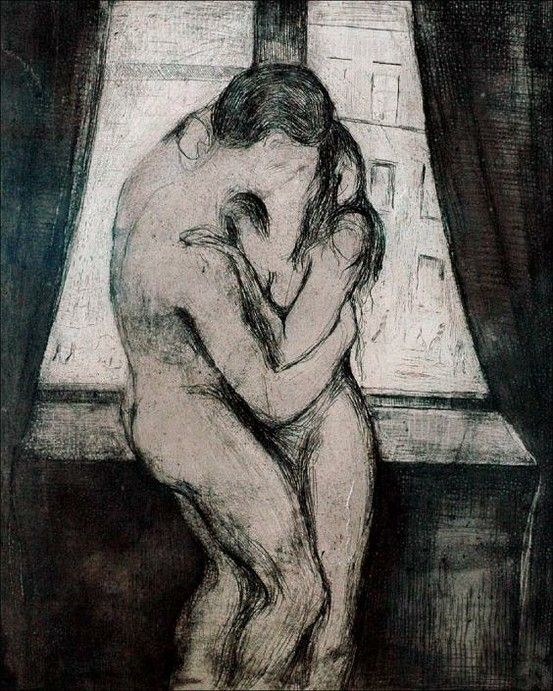 Kiss, 1892, Edvard Munch