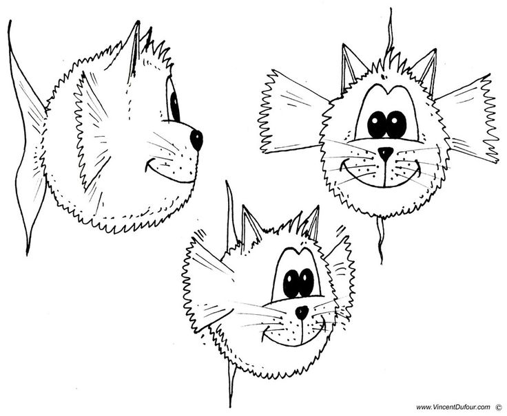 Coloriage poisson chat t l charger gratuitement au - Chat a colorier ...
