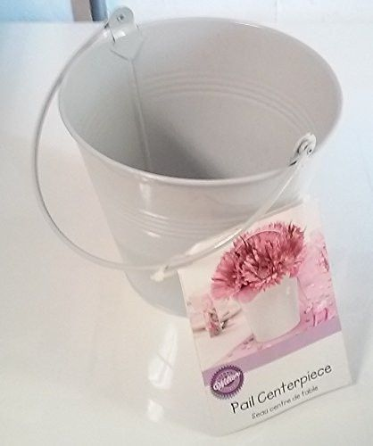 White Tin Pail with Handle | 1ct