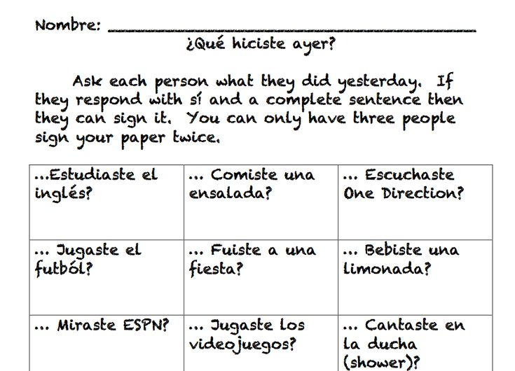 "The ""Find Someone Who"" activity is not new.  Each student has a sheet and asks students if they fit the description.  If the student answers in the affirmative, that student signs the p…"