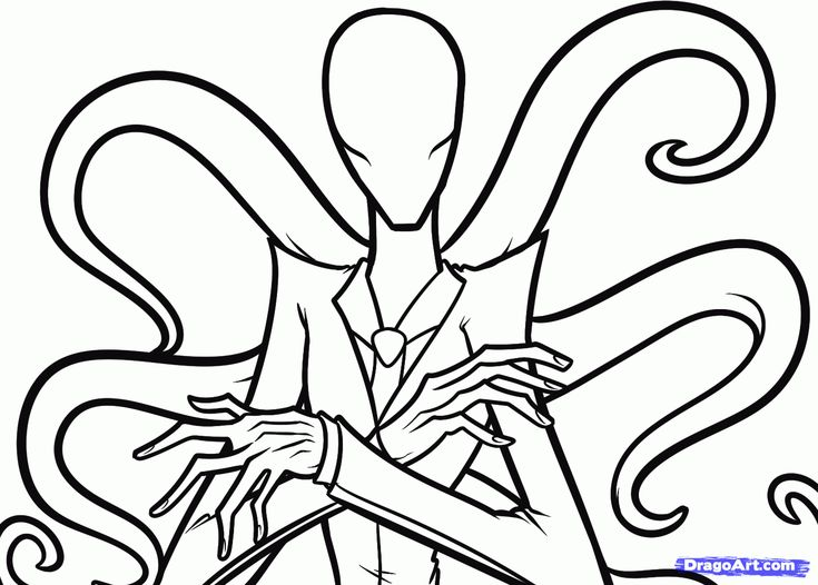 How To Draw Slenderman, Slender Man Step 6