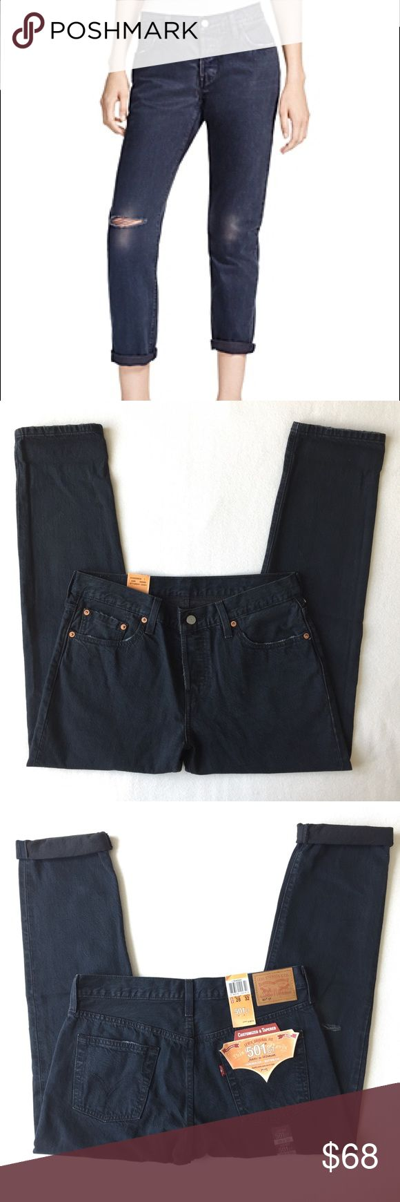 """Levi's 501 CT Original Button Fly Boyfriend Jeans Please Read the description! Thanks!  Brand new with tag Size:  Waist 27"""",  length 32"""" Waist 28"""",  length 32"""" Retail : $168 Color may be slightly different biz of lighting  Price is FIRM unless bundled NO Trades         NO Holds All sales are final Welcome product-related questions! You are responsible for your size. Levi's Jeans Boyfriend"""