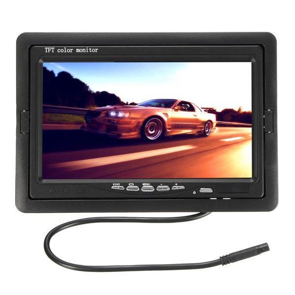 Monitor LCD + 170 ° volver atrás cámara de aparcamiento impermeable TFT retrovisor del coche de 7 pulgadas