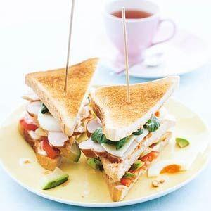 Club sandwich - grilled chicken
