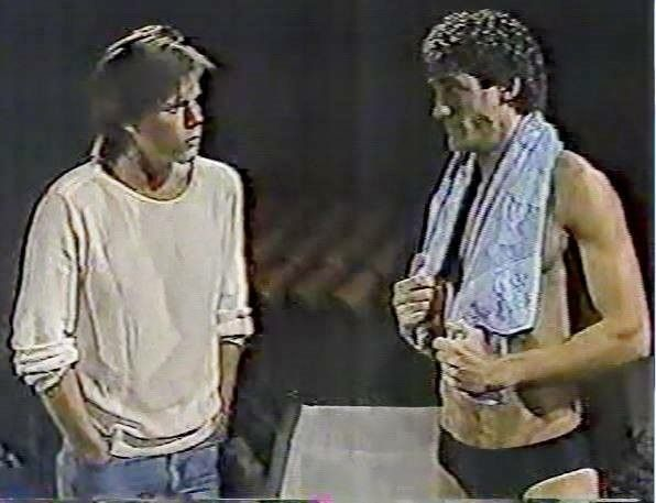GUIDING LIGHT: Kevin Bacon as Tim and John Wesley Shipp as Kelly.