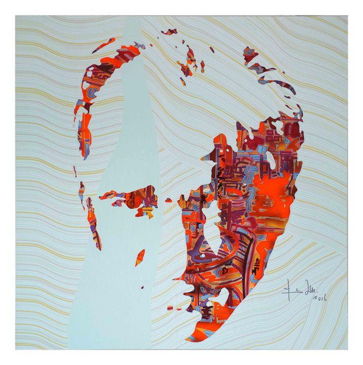 Ataturk Portrait, acrylic on canvas, 100x100cm 2016