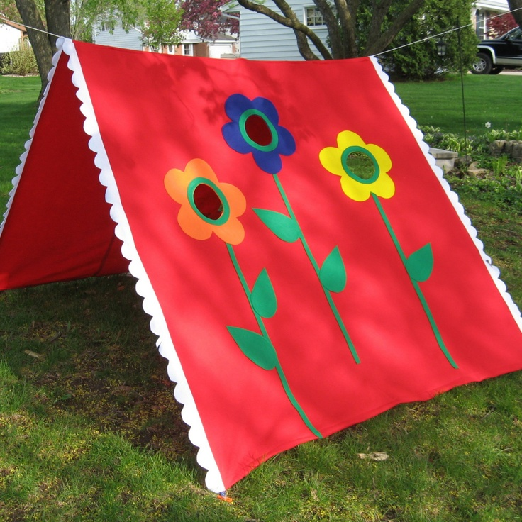 how to make an outdoor canopy tent for children | Clothes Line Tent, Playhouse, Great for Kids of ALL Ages, Custom Order