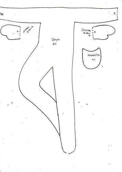 Bailarina molde corpo