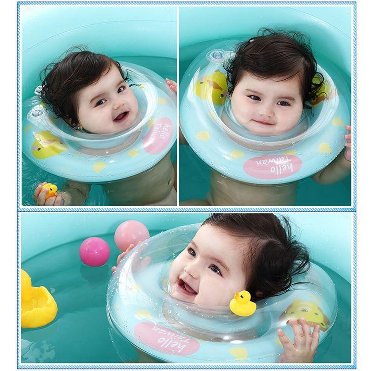 Baby Neck Float Schwimmen Neugeborenen Baby Halsring mit Pumpe Geschenk Matratze Cartoon Pool schwimmring für 0-24month Baby