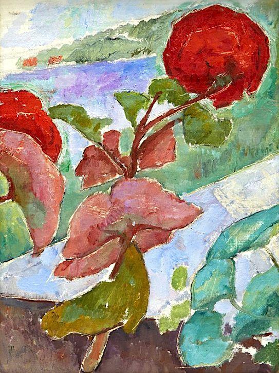 """Nils von Dardel 1888‑1943. """"Geraniums"""""""