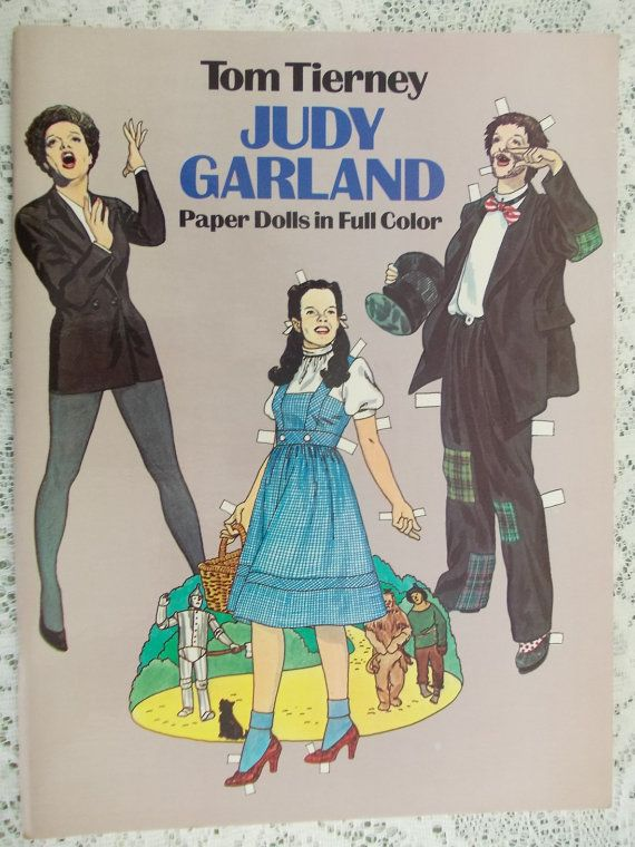 Judy Garland Paper Dolls in Full Color 1982 by DaysofYoreTreasures