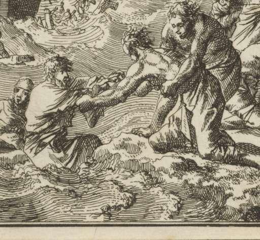 Schipbreuk van de apostel Paulus bij Malta, Jan Luyken, 1712 - Zoeken - Rijksmuseum