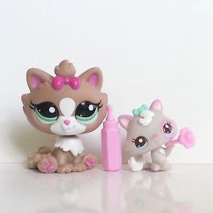 Littlest Pet Shop Cat Kitten 2627 Cutest Pets Mommy Baby Himalayan 2640 LOT HTF #LPS #Littlestpetshop