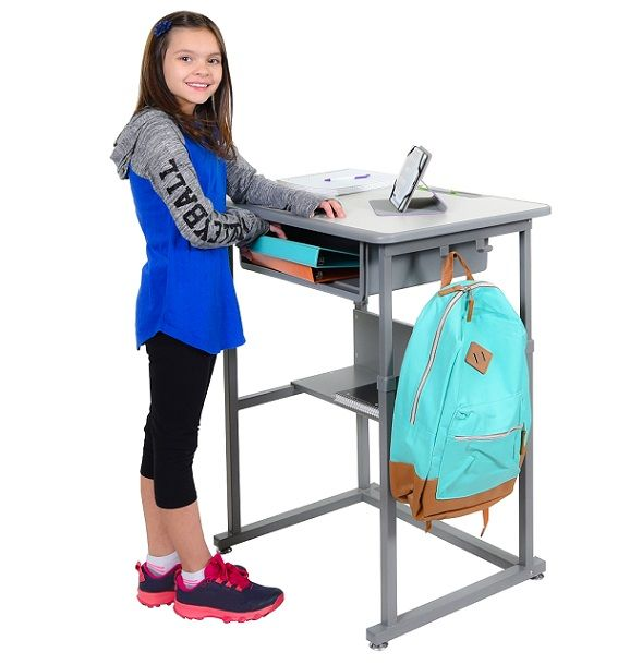 classroom student stand up desk by luxor new