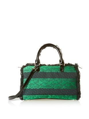 44% OFF RED Valentino Women's Lace Detail Satchel, Green Black