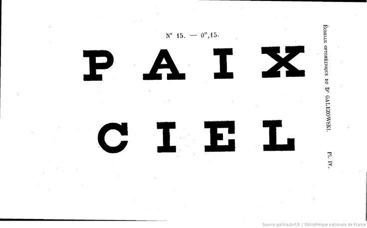 Échelles optométriques et chromatiques pour mesurer l'acuité de la vision, les limites du champ visuel et la faculté chromatique : accompagnées de tables synoptiques pour le choix des lunettes / par le Dr X. Galezowski,... | 1883