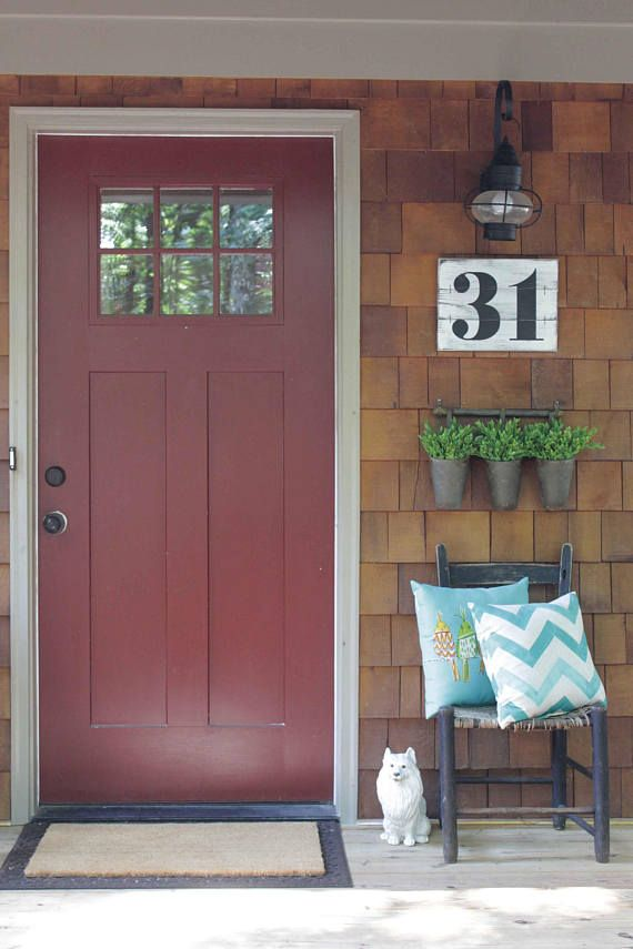 RUSTIC ADDRESS NUMBERS House numbers Subway numbers Number
